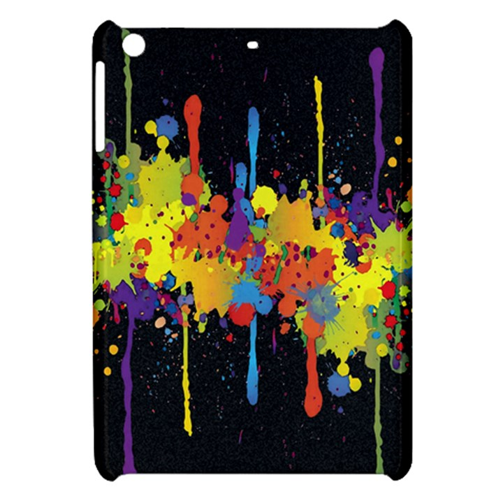 Crazy Multicolored Double Running Splashes Horizon Apple iPad Mini Hardshell Case