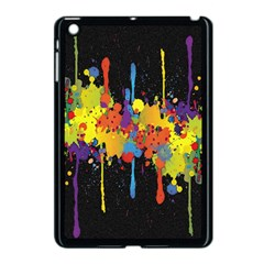 Crazy Multicolored Double Running Splashes Horizon Apple Ipad Mini Case (black)