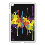 Crazy Multicolored Double Running Splashes Horizon Apple iPad Mini Case (White) Front