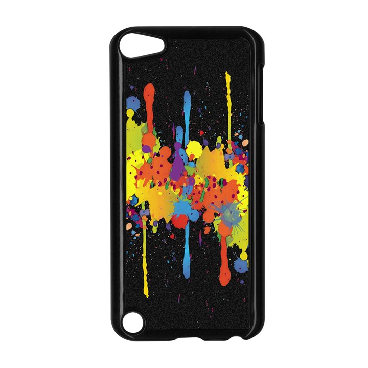 Crazy Multicolored Double Running Splashes Horizon Apple iPod Touch 5 Case (Black)