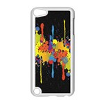 Crazy Multicolored Double Running Splashes Horizon Apple iPod Touch 5 Case (White) Front