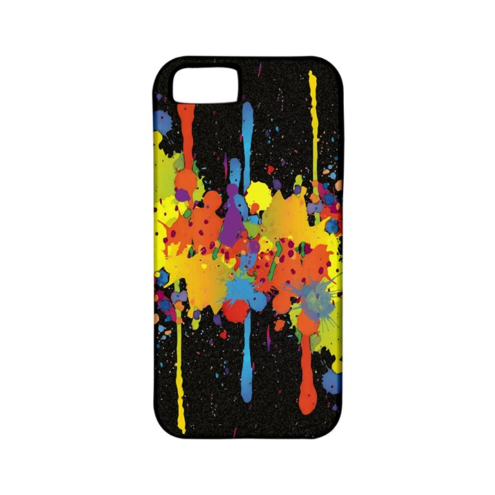 Crazy Multicolored Double Running Splashes Horizon Apple iPhone 5 Classic Hardshell Case (PC+Silicone)