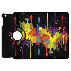 Crazy Multicolored Double Running Splashes Horizon Apple Ipad Mini Flip 360 Case