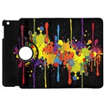 Crazy Multicolored Double Running Splashes Horizon Apple iPad Mini Flip 360 Case Front