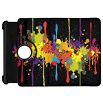 Crazy Multicolored Double Running Splashes Horizon Kindle Fire HD Flip 360 Case Front