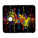 Crazy Multicolored Double Running Splashes Horizon Samsung Galaxy S  III Flip 360 Case Front