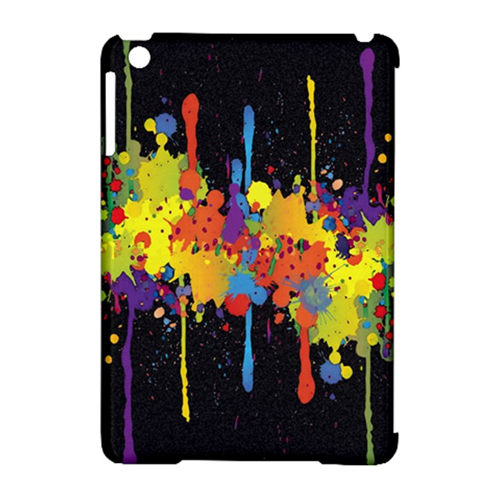 Crazy Multicolored Double Running Splashes Horizon Apple iPad Mini Hardshell Case (Compatible with Smart Cover)