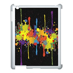 Crazy Multicolored Double Running Splashes Horizon Apple Ipad 3/4 Case (white)