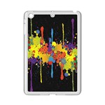 Crazy Multicolored Double Running Splashes Horizon iPad Mini 2 Enamel Coated Cases Front