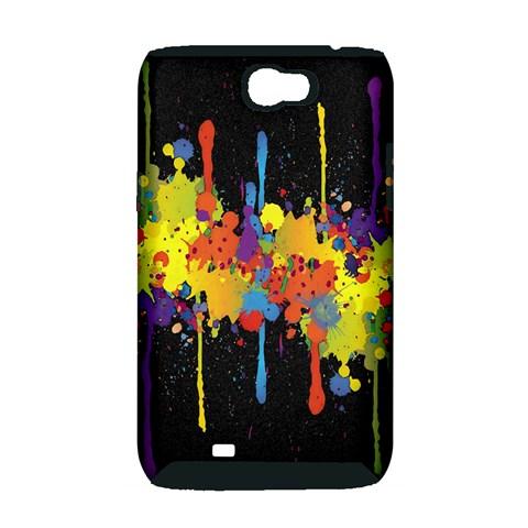Crazy Multicolored Double Running Splashes Horizon Samsung Galaxy Note 2 Hardshell Case (PC+Silicone)
