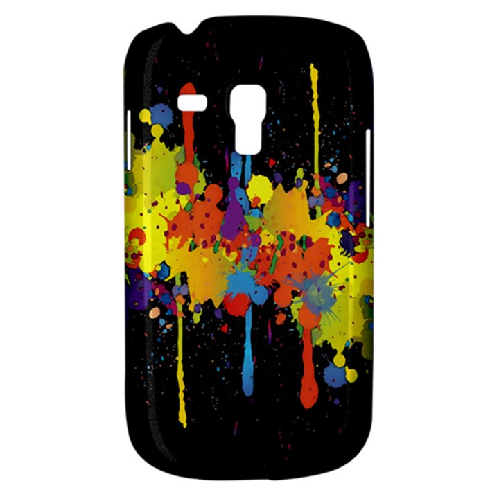 Crazy Multicolored Double Running Splashes Horizon Samsung Galaxy S3 MINI I8190 Hardshell Case