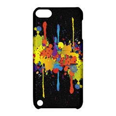 Crazy Multicolored Double Running Splashes Horizon Apple iPod Touch 5 Hardshell Case with Stand