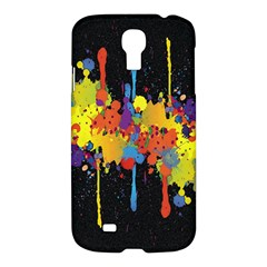 Crazy Multicolored Double Running Splashes Horizon Samsung Galaxy S4 I9500/i9505 Hardshell Case
