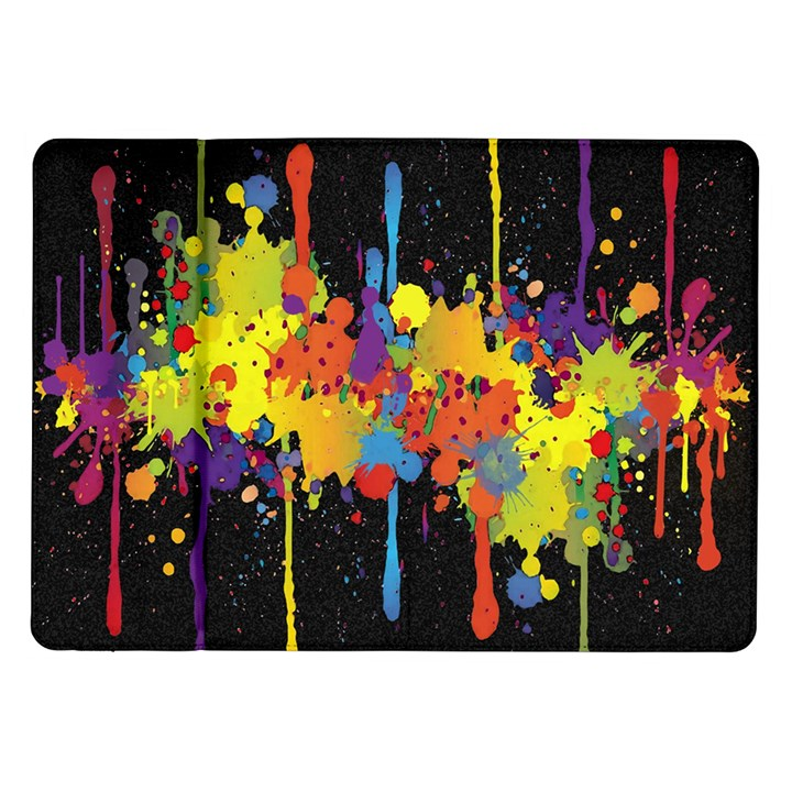 Crazy Multicolored Double Running Splashes Horizon Samsung Galaxy Tab 10.1  P7500 Flip Case