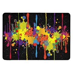 Crazy Multicolored Double Running Splashes Horizon Samsung Galaxy Tab 8.9  P7300 Flip Case