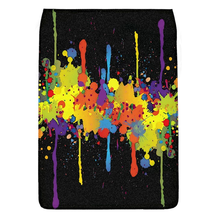 Crazy Multicolored Double Running Splashes Horizon Flap Covers (L)