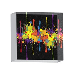 Crazy Multicolored Double Running Splashes Horizon 4 x 4  Acrylic Photo Blocks