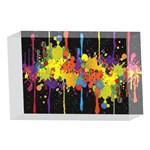 Crazy Multicolored Double Running Splashes Horizon 4 x 6  Acrylic Photo Blocks Front
