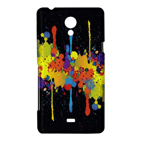 Crazy Multicolored Double Running Splashes Horizon Sony Xperia T