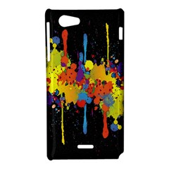 Crazy Multicolored Double Running Splashes Horizon Sony Xperia J