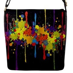 Crazy Multicolored Double Running Splashes Horizon Flap Messenger Bag (s)