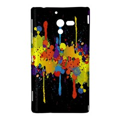 Crazy Multicolored Double Running Splashes Horizon Sony Xperia ZL (L35H)