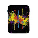 Crazy Multicolored Double Running Splashes Horizon Apple iPad 2/3/4 Protective Soft Cases Front