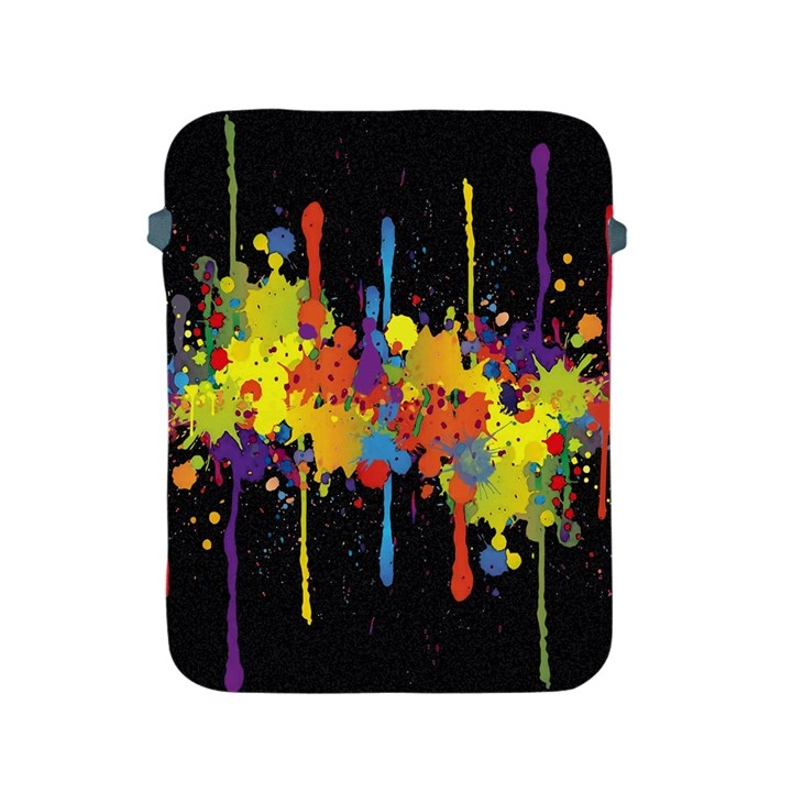 Crazy Multicolored Double Running Splashes Horizon Apple iPad 2/3/4 Protective Soft Cases
