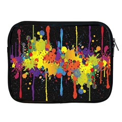Crazy Multicolored Double Running Splashes Horizon Apple Ipad 2/3/4 Zipper Cases