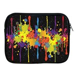 Crazy Multicolored Double Running Splashes Horizon Apple iPad 2/3/4 Zipper Cases Front