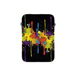 Crazy Multicolored Double Running Splashes Horizon Apple iPad Mini Protective Soft Cases Front