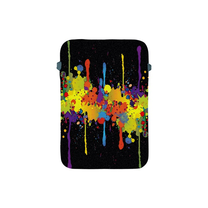 Crazy Multicolored Double Running Splashes Horizon Apple iPad Mini Protective Soft Cases