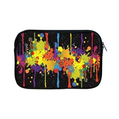 Crazy Multicolored Double Running Splashes Horizon Apple Ipad Mini Zipper Cases