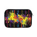 Crazy Multicolored Double Running Splashes Horizon Apple iPad Mini Zipper Cases Front