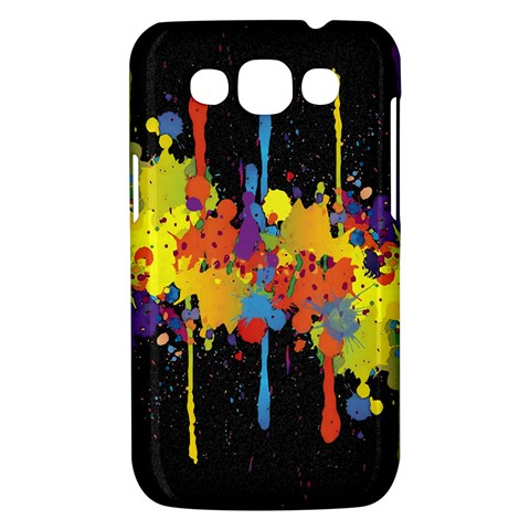 Crazy Multicolored Double Running Splashes Horizon Samsung Galaxy Win I8550 Hardshell Case