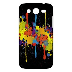 Crazy Multicolored Double Running Splashes Horizon Samsung Galaxy Mega 5 8 I9152 Hardshell Case