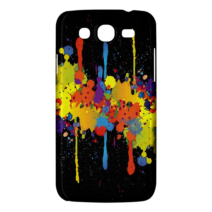 Crazy Multicolored Double Running Splashes Horizon Samsung Galaxy Mega 5.8 I9152 Hardshell Case