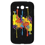Crazy Multicolored Double Running Splashes Horizon Samsung Galaxy Grand DUOS I9082 Case (Black) Front