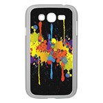 Crazy Multicolored Double Running Splashes Horizon Samsung Galaxy Grand DUOS I9082 Case (White) Front