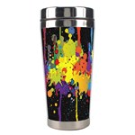 Crazy Multicolored Double Running Splashes Horizon Stainless Steel Travel Tumblers Left