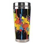 Crazy Multicolored Double Running Splashes Horizon Stainless Steel Travel Tumblers Center