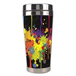 Crazy Multicolored Double Running Splashes Horizon Stainless Steel Travel Tumblers Right