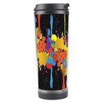 Crazy Multicolored Double Running Splashes Horizon Travel Tumbler Center