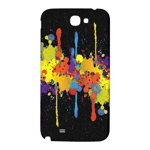 Crazy Multicolored Double Running Splashes Horizon Samsung Note 2 N7100 Hardshell Back Case