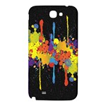 Crazy Multicolored Double Running Splashes Horizon Samsung Note 2 N7100 Hardshell Back Case Front