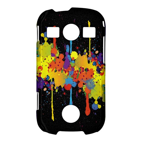 Crazy Multicolored Double Running Splashes Horizon Samsung Galaxy S7710 Xcover 2 Hardshell Case