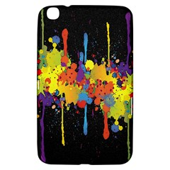 Crazy Multicolored Double Running Splashes Horizon Samsung Galaxy Tab 3 (8 ) T3100 Hardshell Case