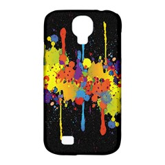 Crazy Multicolored Double Running Splashes Horizon Samsung Galaxy S4 Classic Hardshell Case (PC+Silicone)