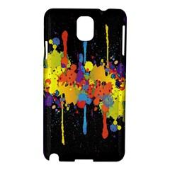 Crazy Multicolored Double Running Splashes Horizon Samsung Galaxy Note 3 N9005 Hardshell Case
