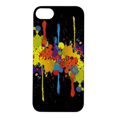 Crazy Multicolored Double Running Splashes Horizon Apple iPhone 5S/ SE Hardshell Case